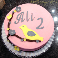 Buttercream Frosted Cake With Modeling Chocolate Cut Outs Tfl Buttercream frosted cake with modeling chocolate cut outs. TFL!