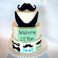 Mustache Baby Shower Cake Buttercream With Modeling Chocolate Decor Handpainted Sign Tfl Mustache baby shower cake, buttercream with modeling chocolate decor, handpainted sign, tfl!