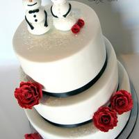 Winter Wedding Wonderland All Is Handcrafted And Edible Except Ribbon Border Marble Cake With Caramel Cream Cheese Buttercream Filling Ch Winter wedding wonderland! All is handcrafted and edible except ribbon border. Marble cake with caramel cream cheese buttercream filling,...