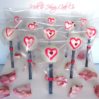 Valentine's Day Cake Pops Lemon cheesecake valentine's day cake pops!