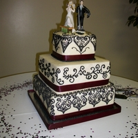 Sangria And Black Wedding Cake