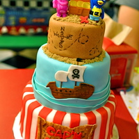 The Backyardigans Pirate Cake Pablo & Uniqua Pirate Cake