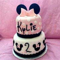 Pink Disney Minnie Mouse Cake *