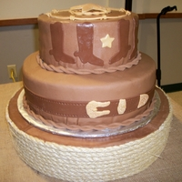 Western Theme Grooms Cake The groom found the picture of this cake and asked me to reproduce it. The cake is my best friend's grandmother's chocolate cake...