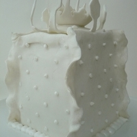 "Snow White Cake With ""snow Flower"""