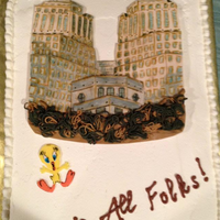 Custom Edible Drawing For A Retirement Cake Fondant Was Stacked In Layers To Create A Dimensional Effect This Is Of The Proctor Amp Ga  Custom edible drawing for a retirement cake. Fondant was stacked in layers to create a dimensional effect. This is of the Proctor &...