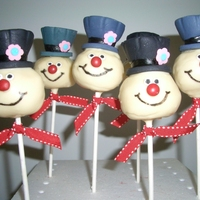Frosty The Snowman Cake Pops Cake pops inspired by the Frosty the Snowman cartoon. I followed the instructions on the Bakerella website; however, I used fondant instead...