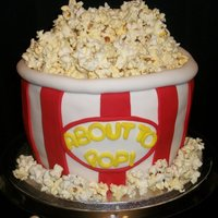 About To Pop Bucket Of Popcorn Cake A cake for an About to Pop themed baby shower