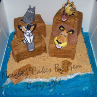 Madagascar Birthday Cake well I was very worried about this cake when my friend asked me for her daughters birthday but I was so happy when I made the face that my...