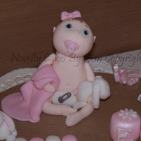 Baby Cake Topper  another cute handmade baby cake topper loved making this little bubba she was a custom creation and the owner didnt want to use her on the...