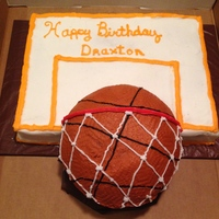 Basketball And Backboard Basketball and Backboard was a fun cake to makeThanks for lookingTeresa's Sweet Boutique