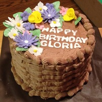 Basket Weave Chocolate basket weave and gum paste flowers Thanks for lookingTeresa's Sweet Boutique