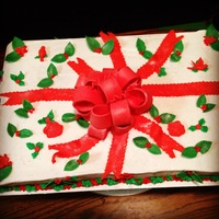 Christmas Present Sheet Cake Christmas present cake Thanks for lookingTeresa's Sweet Boutique