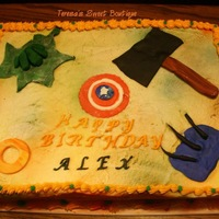 Advengers Alex had an Advengers partyThanks for lookingTeresa's Sweet Boutique