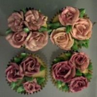 Rose Bouquet Cupcakes My first attempt at piping bouquets directly onto the cupcakes. Candied Budda's hand cupcakes with pomegranate IMBC.