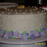 Quiet Violets This is the quiet violet cake duplication from the Wilton site. It was a practice cake for me with buttercream and royal icing flowers. I...