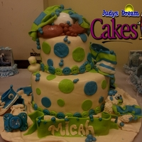Baby Booty Baby Shower Cake  2 Tier Baby Shower cakeBottom Tier 10x6 Vanilla Cake Filling: Vanilla Custard with Strawberry Filling2nd Tier6x5Vanilla Cake Filling :...