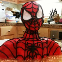 3-D Spiderman Bust Cake