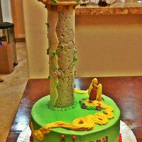 Tangled Tower 2Nd Birthday Cake
