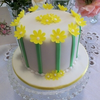 Daisies And Stripes Just a simple little birthday cake , I whipped up for a friend. It was fruitcake on the inside and I used my new Clix stix to make the...