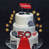 Hollywood Themed 50Th Birthday Cake