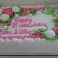 Birthday Cake In White And Pink Birthday cake in white and pink