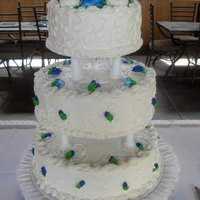 Royal Blue With A Touch Of Purple Buttercream Icing Royal Blue with a touch of purple buttercream icing.