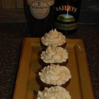 St Patty's Day Treat   Guinness cupcakes with Bailey's irish cream buttercream