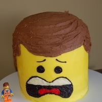 Emmett From The New Lego Movie All Buttercream Icing Emmett from the new Lego Movie. All buttercream icing.