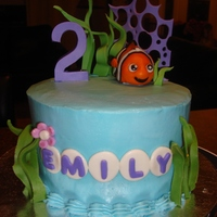 Nemo Cake Nemo cake made for a second birthday. 6inch. MMF and Gumpaste decorations
