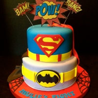 A Superhero Cake For A 2 Year Old Superhero Lt3 I Was Called To Action By Cakes Against Cancer To Create This Cake For A Little Boy Who H A superhero cake for a 2 year old superhero <3 ~I was called to action by Cakes Against Cancer to create this cake for a little boy...