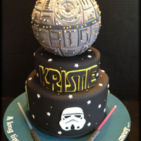 Star Wars Deathstar Cake Star Wars Deathstar Cake.
