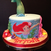 My Version Of A Little Mermaid Cake I Have Seen All Over Pinterest My version of a Little Mermaid cake I have seen all over Pinterest.