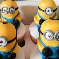 A Dave Minion Cupcake As A Surprise For The Groom. Some more minion cupcakes made for an Easter present.