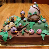 Angry Birds Baby Shower Cake