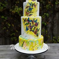 Painted Butterflies Cake