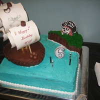 Pirate Cake Wolf's 6th Bday Party