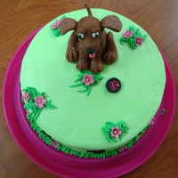 Dog Cake This cake was made for a lady that loves dogs.