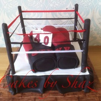 Boxing Gloves And Boxing Ring
