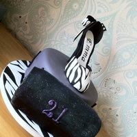 Zebra Print Shoe And Clutch Bag Zebra Print shoe and clutch bag and little black dresses