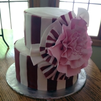 Oversized Flower - Recreated From Cake On Pinterest  My hubby's cousin found a picture of a cake on Pinterest that she loved and asked me to recreate it in different colors. I liked the...