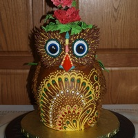 "Made This Awesome Owl Cake For A Repeat Customers Birthday Her Hubby Told Me She Likes Owls And Thats It So I Found A Picture Of  Made this awesome owl cake for a repeat customer's birthday... her hubby told me, ""She likes owls,"" and that's it. So I..."
