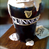 Pint Of Guinness   Cake is about 12 Inches high. Napkin is fondant