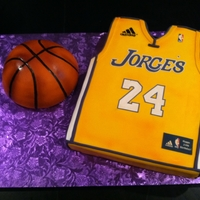 Personalized Lakers Kake This kake was made for my friend Jorge, who was turning 24 years old. In addition his favorite Basketball player is number 24 on the LA...