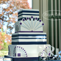 Great Gatsby Inspired Wedding Cake  I made this cake for a Great Gatsby themed wedding. It was so much fun to design around the couple's custom wedding invitation/...