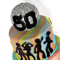 70's Disco Birthday Cake