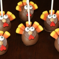Happy Thanksgiving Canada!   turkey cake pops made for my son's preschool party