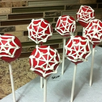 Spider Man Cake Pops   Cake pops to go with spider man cake