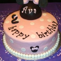 Minnie Mouse Birthday Cake This was for an old friends little girls 2nd brithday. She found a picture online and asked for me to duplicate it as best as possible.