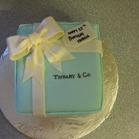 Tiffany And Co Birthday Cake This is a Tiffany and Co birthday cake. French vanilla cake w/ french vanilla bc, covered in fondant. This was the first time I had...